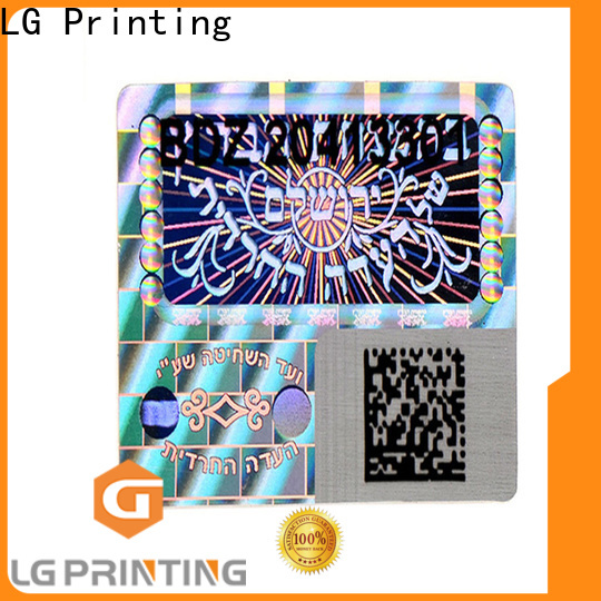 LG Printing gold serial number stickers company for pharmaceuticals