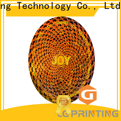 LG Printing barcode custom logo hologram stickers wholesale for garment hangtag