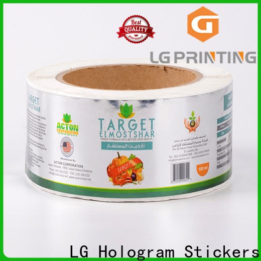 LG Printing red adhesive label factory price for cans