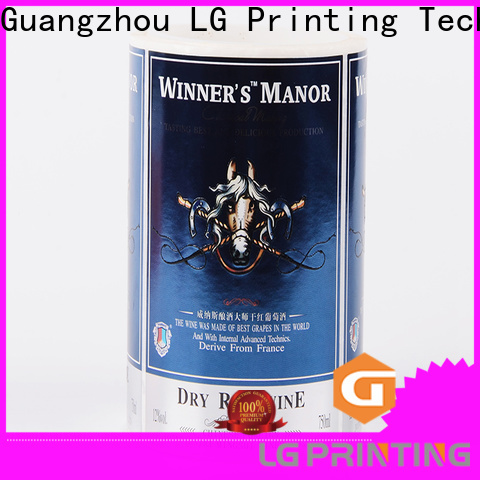 LG Printing foil vinyl adhesive paper company for cans