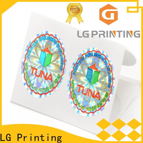 Custom made sticker hologramme barcode vendor for garment hangtag