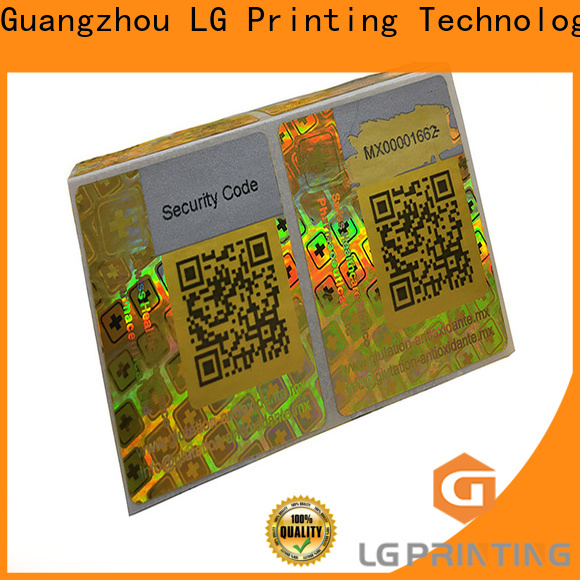 LG Printing silver waterproof sticker label company for electronics