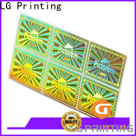 LG Printing numbering holographic card manufacturers for skin care products