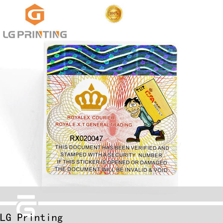 LG Printing pressure sensitive labels vendor for box