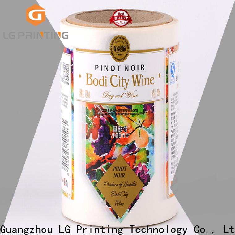 LG Printing silver bulk label printing company for jars