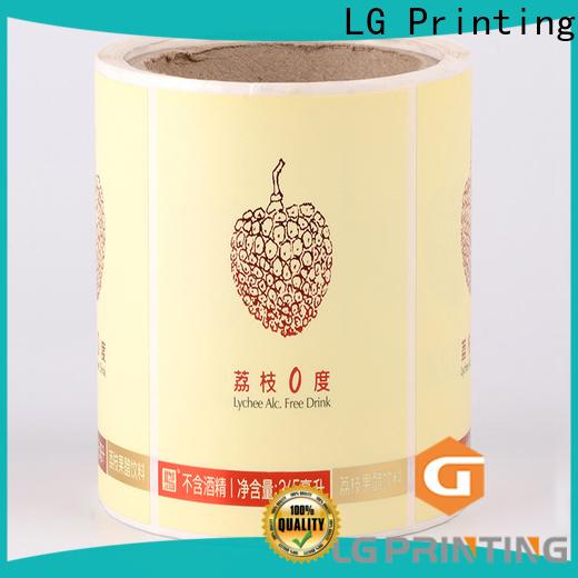 LG Printing Custom made best wine bottle labels price for wine bottle