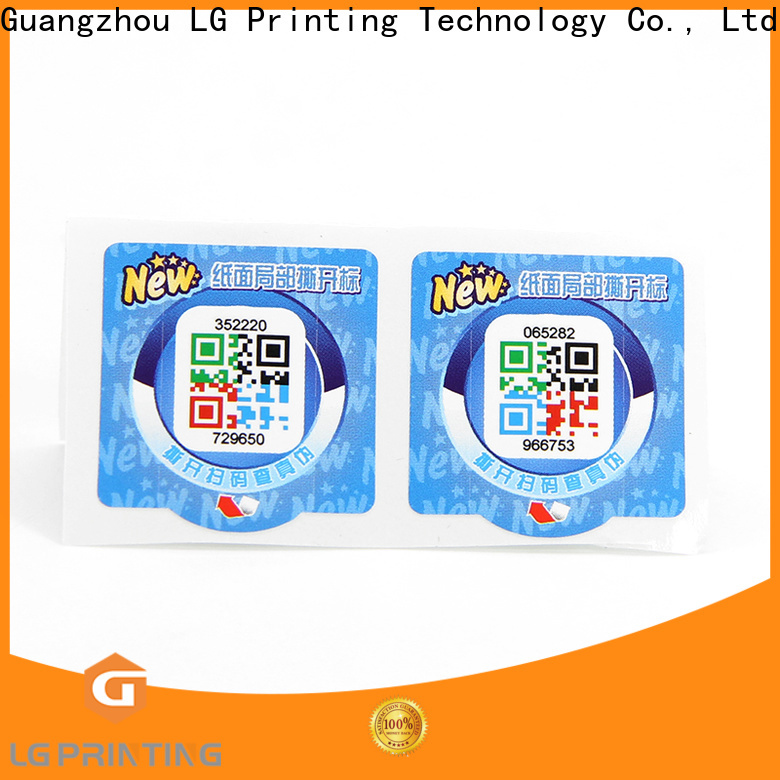 LG Printing vinyl self adhesive labels price for cosmetics