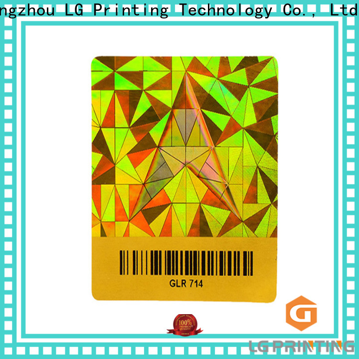 Customized stickers hologramme security supply for garment hangtag
