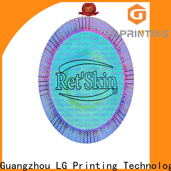 LG Printing tampered gold foil transparent sticker suppliers for pharmaceuticals