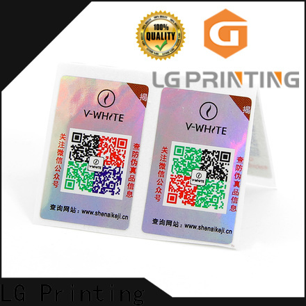 LG Printing customized labels for jars for goods