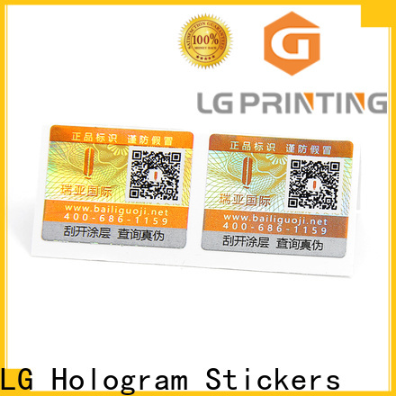 Custom custom hologram labels wholesale for box