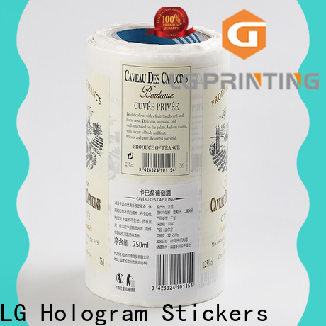 LG Printing pvc food packaging supplies cost for bottle