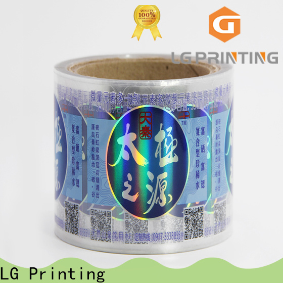 LG Printing Customized holographic letter stickers manufacturers for metal box surface