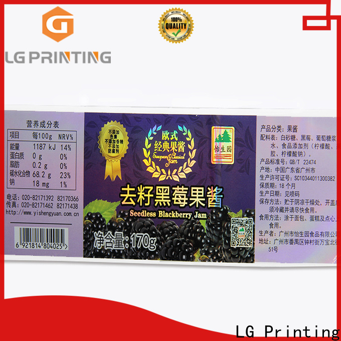 LG Printing supreme holographic sticker company for bottle package