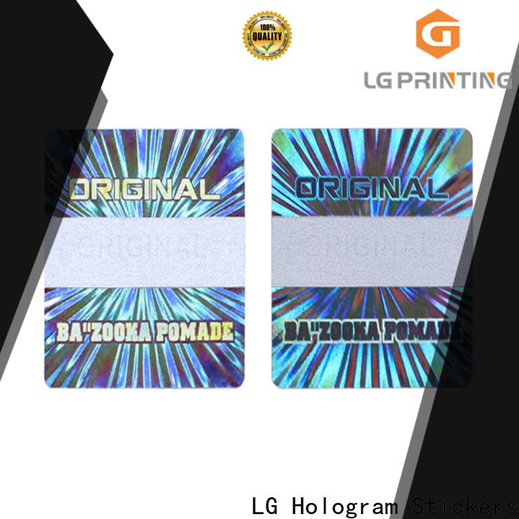 LG Printing Bulk wholesale hologram sticker printing company for electronics