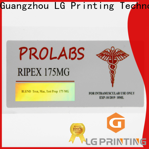LG Printing holographic label printing suppliers for metal box surface