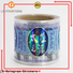 Customized transparent holographic sticker paper wholesale for bottle package