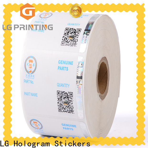 LG Printing positioned personalised hologram stickers factory for bag