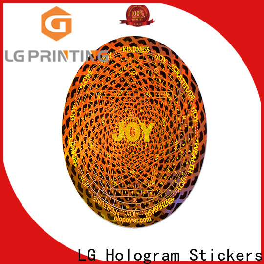 LG Printing silver id hologram stickers cost for skin care products