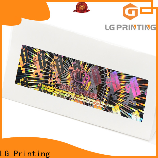 LG Printing Buy hot stamping foil sticker factory supply for garment hangtag