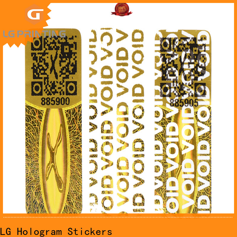 LG Printing Custom made manufacturers of security void stickers for skin care products