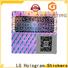 Quality hologram sticker paper silver wholesale for garment hangtag