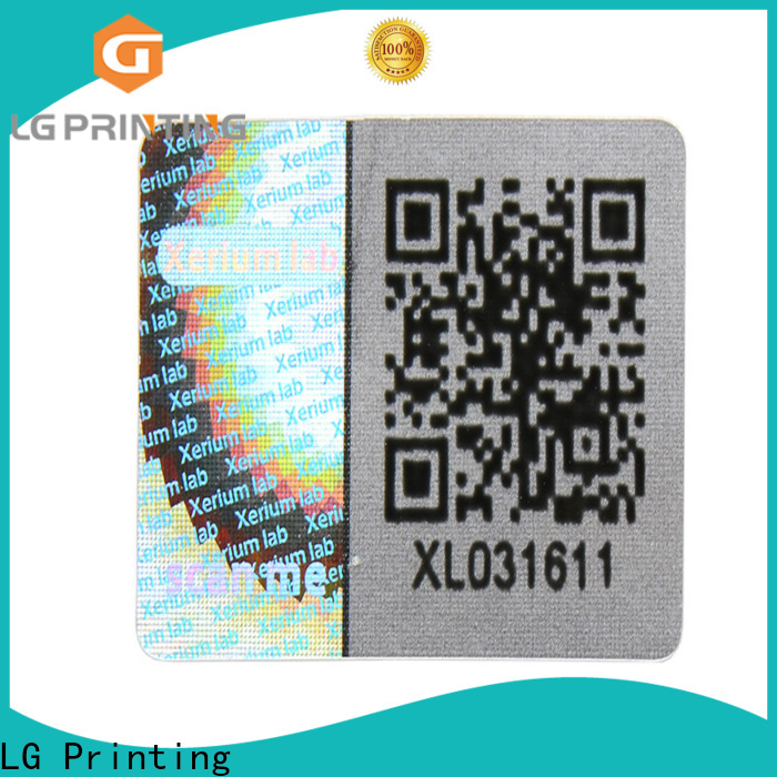LG Printing High-quality hologram stickers online purchase factory price for cosmetics