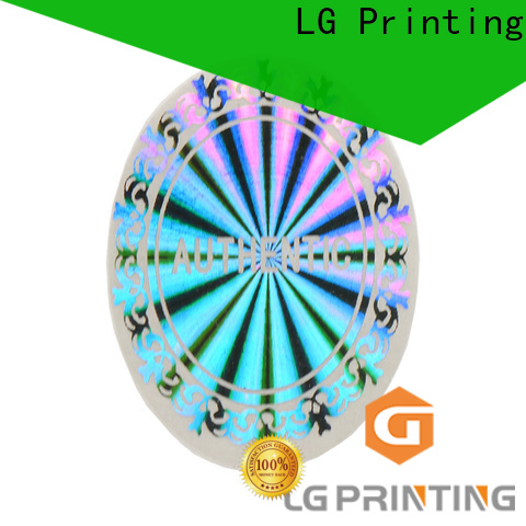 LG Printing Professional hologram overlay stickers suppliers for skin care products