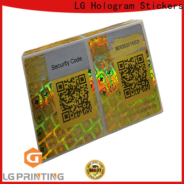 LG Printing Professional hologram seal stickers price for skin care products