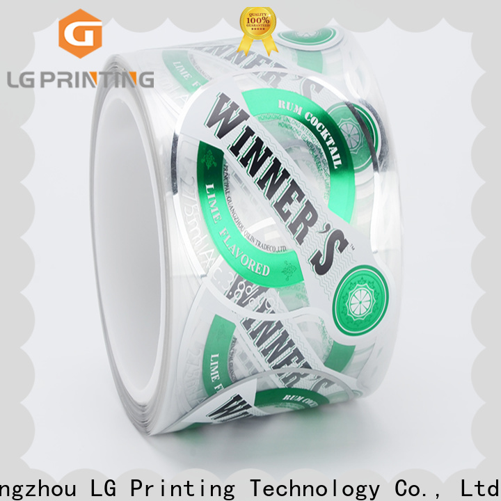 LG Printing Custom made sticky label printing paper factory price for cans
