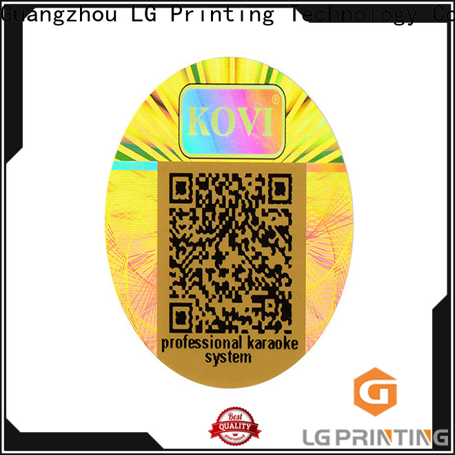 Best id hologram stickers one time price for garment hangtag