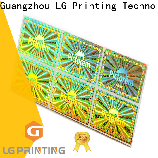 Best hologram sticker sheet one time factory for electronics