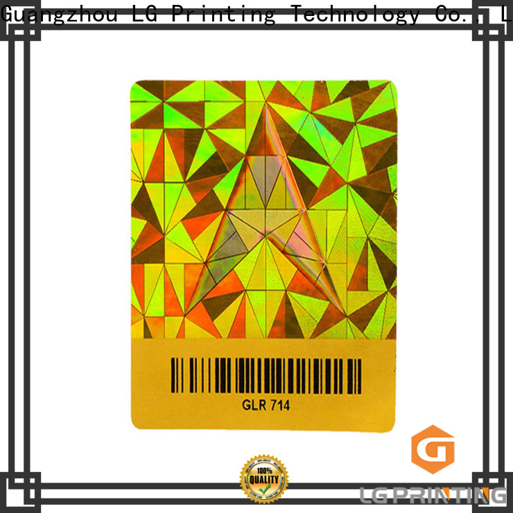 High-quality hologram stickers for certificates printing company for electronics