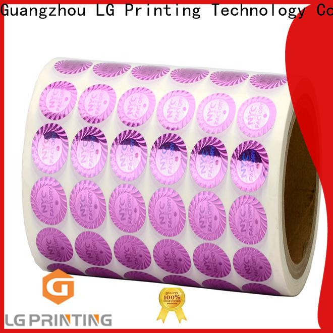 LG Printing number print hologram stickers vendor for cosmetics