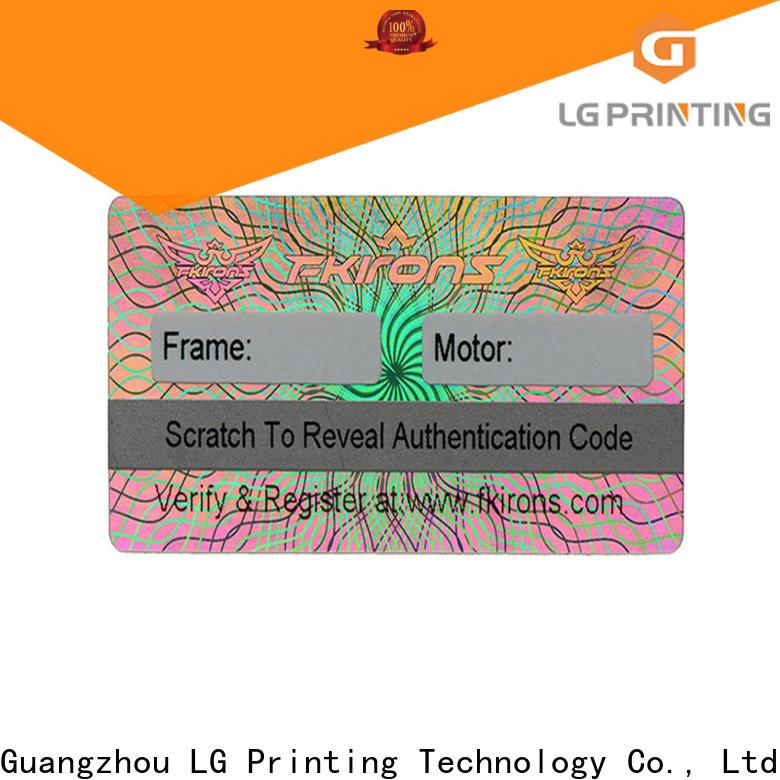 Custom 3d hologram sticker machine serial wholesale for garment hangtag