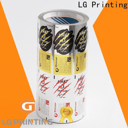 LG Printing bopp self adhesive plastic labels factory price for jars