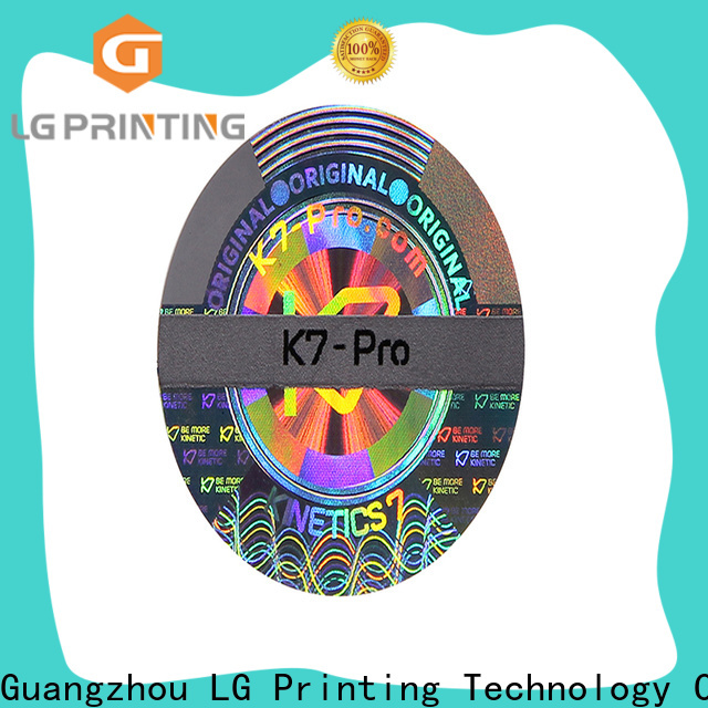 LG Printing Bulk security sticker printing factory for electronics