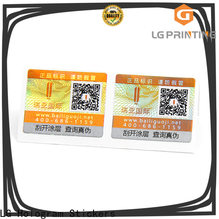 LG Printing custom business labels stickers manufacturers for box