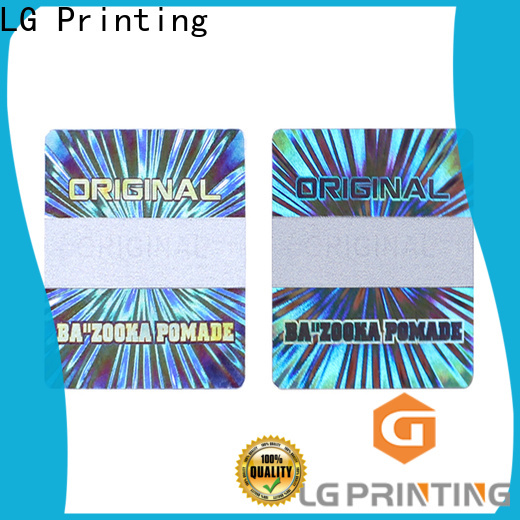 LG Printing Professional security sticker printing cost for electronics