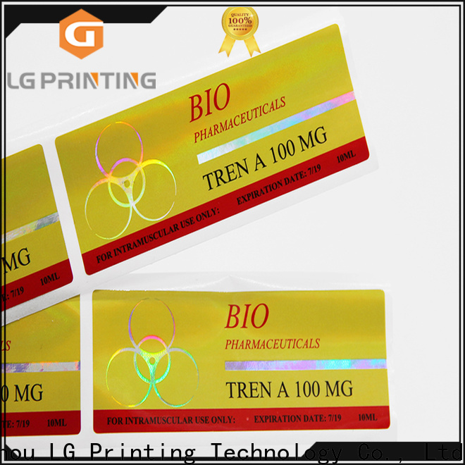 LG Printing Custom holographic product labels supply for bottle package