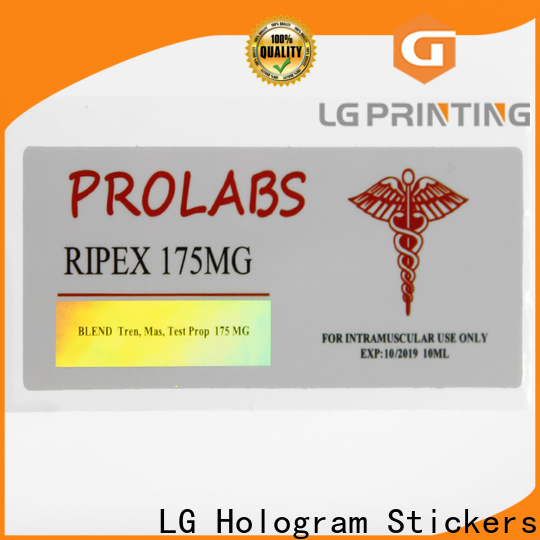 LG Printing holographic security stickers suppliers for plastic box surface