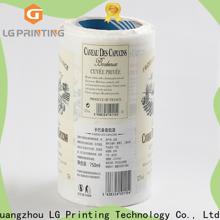 LG Printing Bulk buy self adhesive vinyl stickers suppliers for bottle