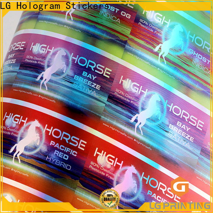 LG Printing personalised holographic stickers supply for bottle package