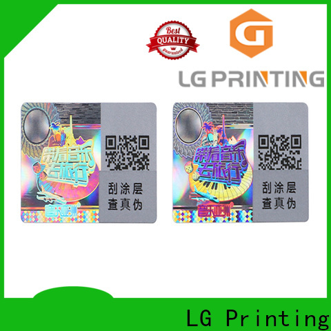 LG Printing Custom made clear holographic sticker paper factory for cosmetics