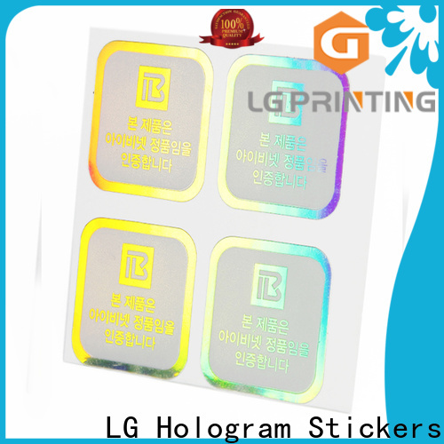 Custom made clear holographic stickers suppliers for bottle package