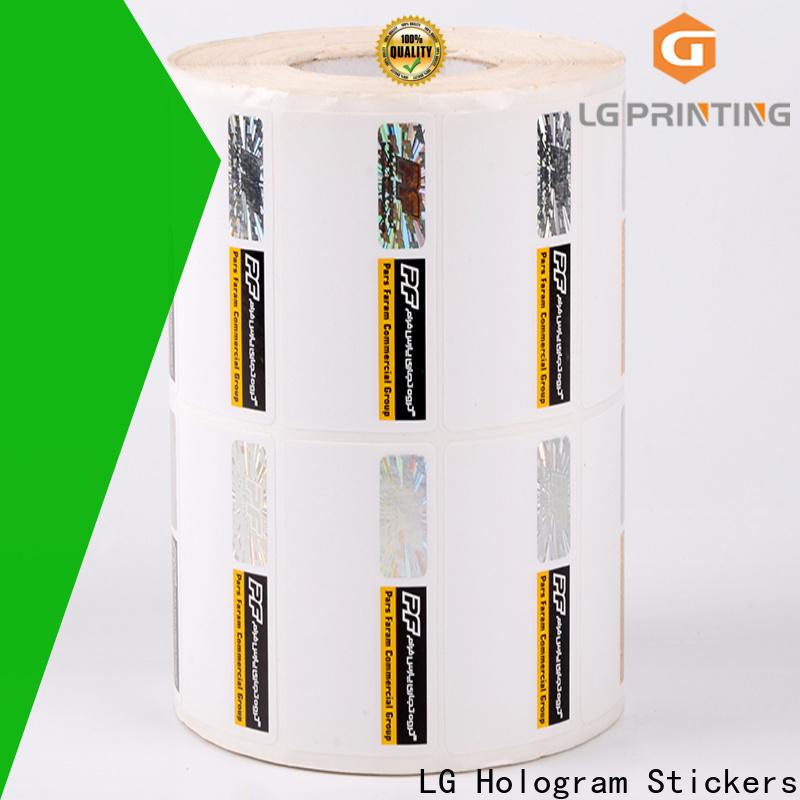 LG Printing serial hologram original sticker factory for box