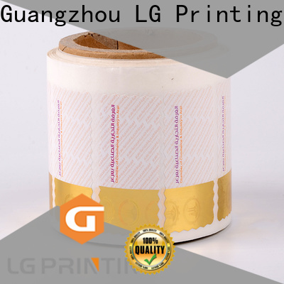 LG Printing foil anti counterfeit label supply for products
