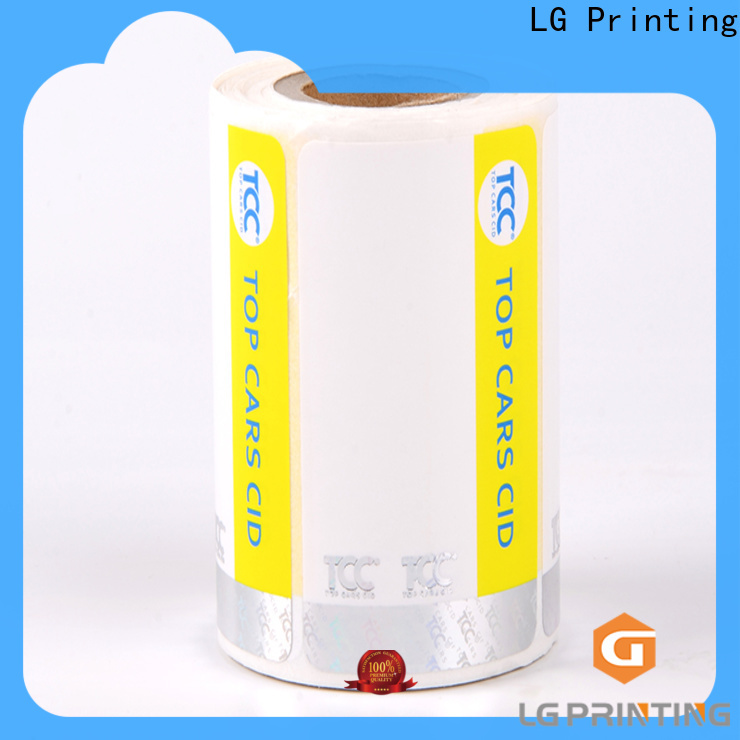LG Printing silver custom size labels suppliers for bag