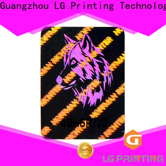 LG Printing Best holographic sticker paper cost for pharmaceuticals
