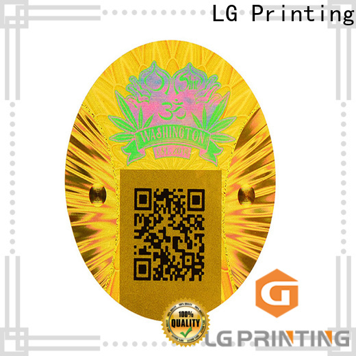 Bulk security hologram sticker scratch off company for garment hangtag